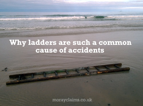 Ladder washed up on Lossiemouth West Beach