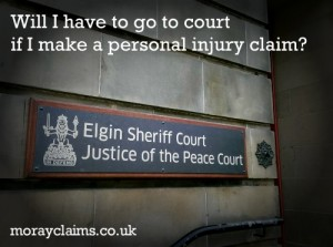 Will I Have To Go To Court If I Make A Personal Injury Claim?