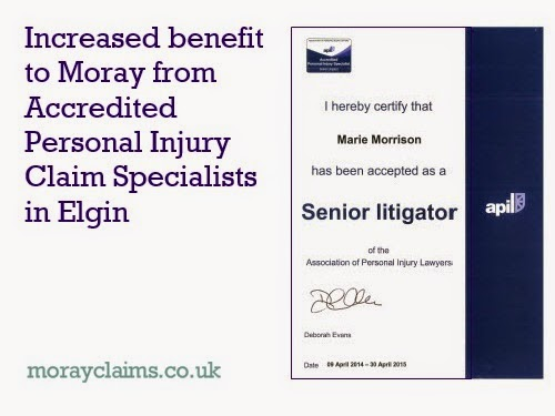 Marie Morrison of Grigor & Young / Moray Claims has gained a further Personal Injury Accreditation