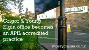 Grigor & Young Elgin Office Becomes an APIL Accredited Practice