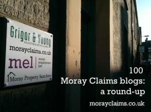 100 Moray Claims Blogs – A Round-Up