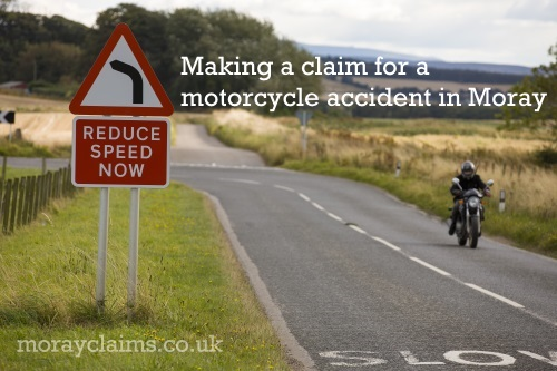 Motorcyclist on Rural Road in Moray, Scotland