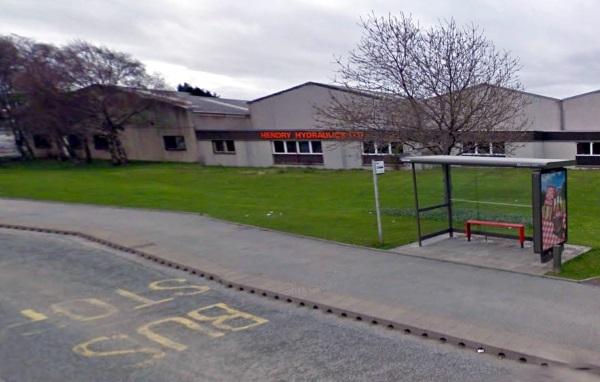 Bus Stop at East Road, Elgin, Moray