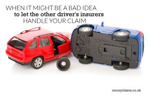 Two toy cars in collision