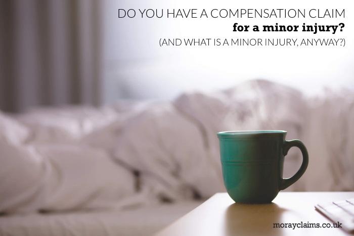 Mug of steaming tea or coffee beside sleeping person under duvet