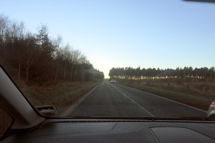 A941 Road - Lossiemouth to Elgin, near Spynie Palace