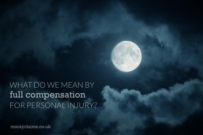 Full Moon in dark, cloudy sky