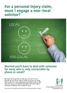 Can a Moray Solicitor help with a Personal Injury Claim?