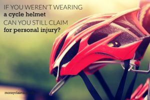 If you were not wearing a cycle helmet can you still claim for personal injury?