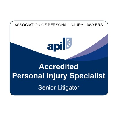 Association of Personal Injury Lawyers' logo for a Solicitor Accredited as a Senior Litigator