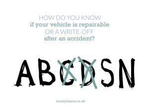 How do you know if your vehicle is repairable or a write-off after an accident?