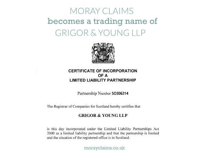 Crop of the Certificate of Incorporation of Grigor & Young LLP