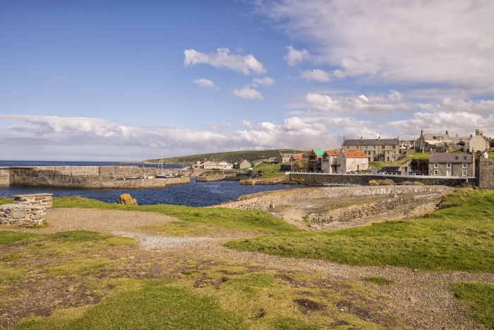 Portsoy Harbour on the Moray Firth, Scotland