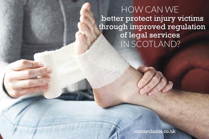 Woman bandaging man's foot