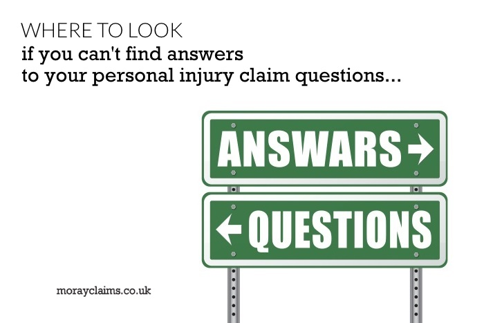 Road Signs pointing in opposite directions to Questions and Answars (sic)