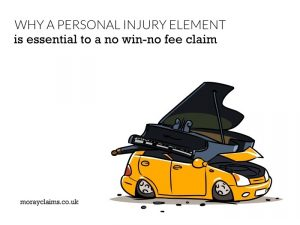 Why a personal injury element is essential to a no win-no fee claim