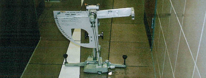 Wessex Pendulum Tester on tiled floor