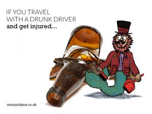 If you travel with a drunk driver and get injured
