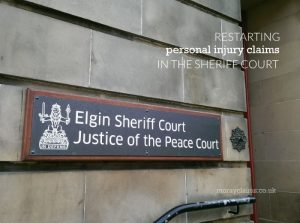 Entrance to Elgin Sheriff Court, Elgin, Moray